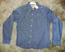 Men's Hollister LS Blue & White Stripe Button Down Collar Shirt NWT Size Small
