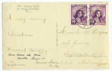 1938 Chateau d'Oex Switzerland Sc B92 pair semi-postals on pc cover to Rhode Is.