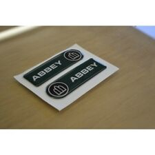 ABBEY Caravan - (RESIN DOMED) - Dent Badge Stickers Decals Graphics - PAIR