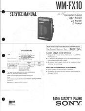 Sony Original Service Manual für WM-FX 10