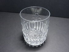 "EAPG Mould Blown Flat Tumbler Cinque Foil w Ribbing Clear 3 1/2"" T"