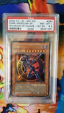 PSA 8.5 NM+ Dark Magician of Chaos IOC Invasion of Chaos 1st Edition Ultra Rare