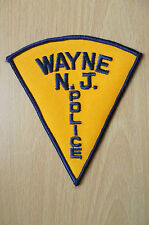 Patches:  WAYNE NEW JERSEY POLICE PATCH (NEW,approx. 5x4.8)