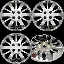 "4 Chrome COBALT AVEO  Bolt On 15"" 4 Lug Hub Caps Wheel Rim Covers Steel Wheels"