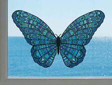 "CLR:WND - Patterned Butterfly - See-Through Vinyl Window Decal ©YYDC(6.5""w x4""h)"