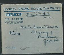 MALAYA  (P2508B) EX POW THAILAND 30/12/46 TO JAVA  UNUSUAL