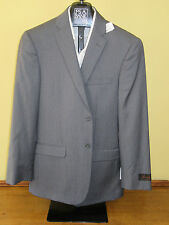 $650 New Jos A Bank JOSEPH Grey stripe pattern suit 43L 37 W Slim fit
