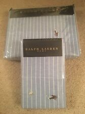 BNIB RALPH LAUREN BLUE WIDE STRIPE SINGLE DUVET COVER & 2 PILLOW CASES £194