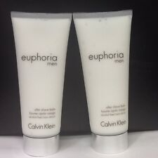 Euphoria for Men By Calvin Klein Lot of 2 X 3.4 OZ After Shave Balm ~~ NEW UNBOX