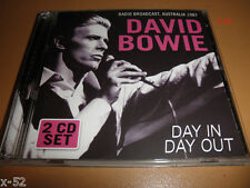 DAVID BOWIE 2 disc CD radio broadcast AUSTRALIA 1987 day in day out CONCERT TOUR
