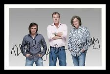 TOP GEAR - HAMMOND & CLARKSON & MAY AUTOGRAPHED SIGNED & FRAMED PP POSTER PHOTO