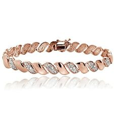 0.50ct TDW Diamond San Marco Bracelet - Rose Gold Tone