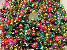 1/2 POUND LOT ASSORTED COLOR COSMIC SWIRL GLASS BEADS (082820155)