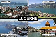 SOUVENIR FRIDGE MAGNET of LUCERNE SWITZERLAND