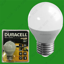 6x 4W (=25W) Duracell LED Frosted Mini Globe ES E27 Round G45 Light Bulb Lamp