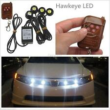4in1 Kit 12V Hawkeye LED Car Emergency Strobe Lights DRL Wireless Remote Control