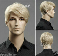 Men's short blonde hair wig wig male European and American popular cc28