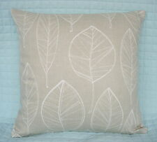 "Shabby Chic Retro Style Cushion Cover/16""x16""/John Lewis ASPEN Fabric,Putty"