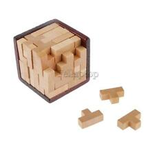 Wooden Tetris Game Building Blocks Kids Adults Educational Puzzle Toy