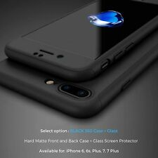 Jet Black Case For Apple iPhone 7 6 6s Plus 5c SE 5 5S Gel Silicone Rubber Cover