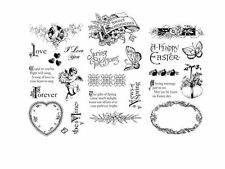 "GRAPHIC 45 ""SWEET SENTIMENT"" CLING STAMP SET 1, 2 & 3 RETIRED  SCRAPJACK'S PLACE"