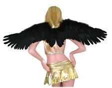 Black Feather Angel Wings Large Costume Props FREE HALO halloween Adult