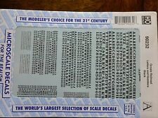 Microscale Decal #90232 Ornate Railroad Letters and Numbers - Black- 1:87 Scale