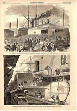"Loading Supplies on board Steamships ""Atlantic and ""Baltic""  -  Civil War - 1861"