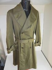 Vtg 1946 WWII Men's US Navy USA ARMY Over Coat Military Trench FIELD Jacket M