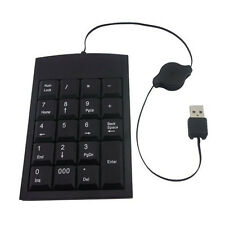 Black USB 19 keys Numeric Number Keypad Num pad Keyboard For Laptop Notebook UK