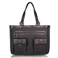 GUCCI Abbey GG Monogram Brown Bag Canvas Leather Tote