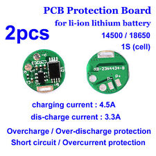 2PCS 3.7V 4.2V 3A PCB BMS Protection Board for 1S Li-ion Lithium 18650 Battery