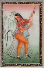 Indian Rajasthani Marble Art Handmade Ethnic Decor Portrait Miniature Painting