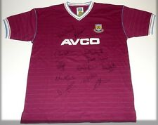 WEST HAM BOYS OF 1986 TEAM PERSONALLY SIGNED AUTOGRAPH SHIRT JERSEY
