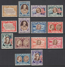 San Marino Sc 257A/C51H MNH. 1947 Roosevelt Memorial cplt incl Air Mail values