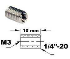 "Adaptateur de filetage M3 1/4""-20 Thread adapter adaptor imperial metric inch mm"