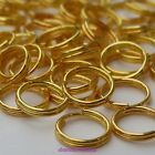 100 or 200 x Gold Plated Alloy Double Loop Split Open Jump Rings Jumprings