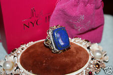 Chuck Clemency NYCII sterling silver/yellow Gold vermeil Lapis Lazuli ring STS