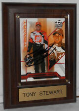 2004 TONY STEWART TRADING CARD AUTOGRAPHED - MOUNTED & READY FOR DISPLAY