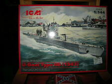 1:144 ICM U-Boot Type IIB 1943 WWII German Submarine OVP