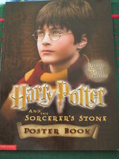 """HARRY POTTER~ """"SORCERER'S STONE """"  POSTER BOOK ~ SCHOLASTIC"""