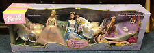 Barbie PRINCESS PAUPER ROYAL4 HORSE CARRIAGE GIFT SET SINGING ERIKA ANNELIESE