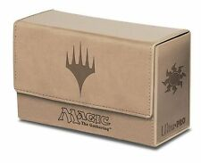 Ultra Pro MTG Magic the Gathering Mana Dual Flip Deck Box Matte White New