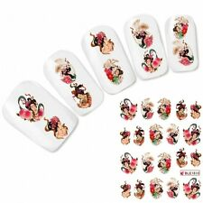 Nagel Sticker Nail Art Tattoo Japan Oriental Geisha Aufkleber NEU!