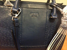 NEW GUESS NAVY AIRWAWES SATCHEL HANDBAG BAG PURSE
