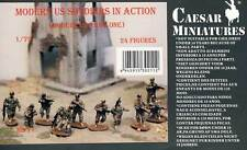 Caesar Miniatures Modern US Soldiers in Action Army Figuren Modell-Bausatz 1:72