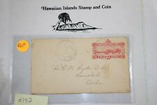 c142 Hawaiian Stamp Cover Scott# U2-b, 1892