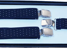 BRACES SUSPENDERS • 25mm Wide Thick Strap • Mens Ladies • GIFT • BOXED #18
