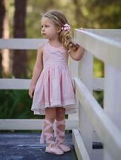 NEW DOLLCAKE BABY STEPS DRESS PINK SZ 5  Birthday Graduation Dress