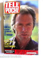 b)Télé poche 4/9/1984; Clint Eastwood/ Colette/ Brigitte Bardot/ Jacques Brel